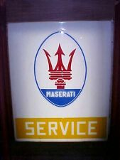 Maserati Sign_Bob Grossman Dealership Sign VINTAGE OEM