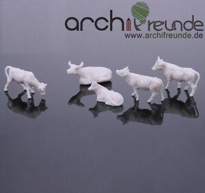 10 x  Modell Kühe, weiß, für Bauernhof  Modellbau Modelleisenbahn Spur H0