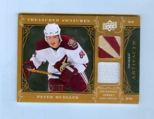 PETER MUELLER 09-10 ARTIFACTS DUAL JERSEY PATCH #4/35