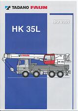 Tadano Faun HK 35L Autokran Prospekt 2001 truck crane brochure autogrue (D GB)