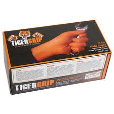 Ten 10 boxes of Tiger Grip Orange NItrile Gloves 7 mil 100 per box Size L