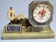 MT. FUJI 2400 METER TRAIL HEAD VINTAGE SOUVENIR THERMOMETER FIGURAL MOUNTAIN