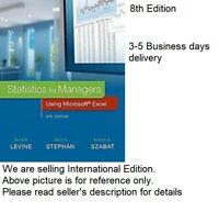 (4-6 days delivery from TX)Statistics for Managers Using Microsoft Excel