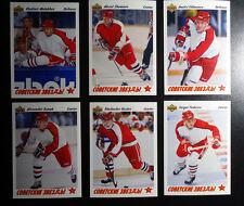 1991-92 Upper Deck UD Russia Soviet Stars Team Set of 6 Hockey Cards