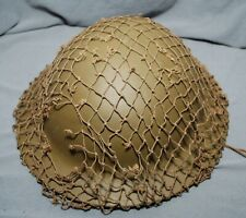 """WWII BRITISH CANADIAN MADE OD7 GREEN 1/2"""" HELMET NETS FOR BRODIE US ARMY M1 GR 3"""
