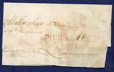 Peru Circa 1833 Prephilatelic Cover Piura to Lambayeque