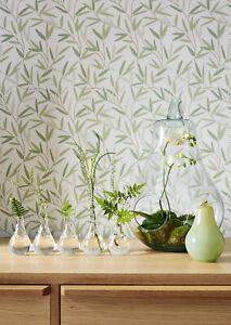 Last 2 Rolls Laura Ashley Willow Leaf Hedgerow Wallpaper W099361-A/2 NEW Green