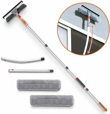 Squeegee Window Cleaner,Baban 2 in 1 Cleaning Tool Elbow Straight Extension Pole