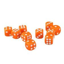 50 of Orange Opaque Dice - Six Sided Spot Dice Size 12mm - D6 RPG Wargaming