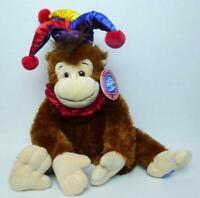 Circus Monkey Ringling Bros 2001 Jester Hat Plush Toy