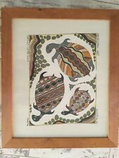 Aboriginal Art. Turtles Laying Eggs By Max Conlan 1991 Framed