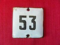 USSR apartment No. 53 House door sign Plate Enameled metal old vintage