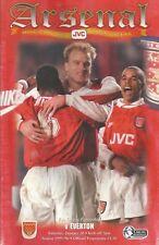 Football Programme - Arsenal v Everton - Premiership - 20/1/1996