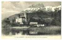 CPA 74 Haute-Savoie Lac d'Annecy Le Château de Duingt et les Dents de Lenfont