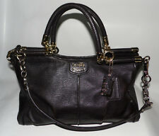 COACH Madison Pinnacle Carrie - 21503 - Textured Leather - Brass Espresso Brown