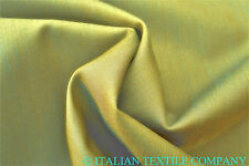 E31 Feu maïs 2 TONS Uni Deluxe Super fine150's PUR Wool&Silk fabriqué en Italie