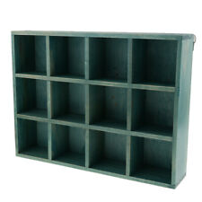 Home Entryway Organizer Display Wall Shelf Rack with 12 Compartments-Blue