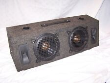"""BECKER SUB-WOOFERS W/ VENTED BOX VINTAGE 8"""" SUB WOOFERS RESTORED"""