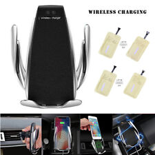 Rotate Automatic Clamping Wireless Car Charger Receiver Mount Receiving Paste HQ