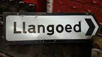 WORK SHOP FIND LLANGOED VILLAGE SIGN FROM ANGLESEY