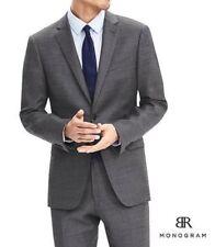 $415 BANANA REPUBLIC MONOGRAM Suit JACKET BLAZER Sz 42L Gray Standard Fit NEW