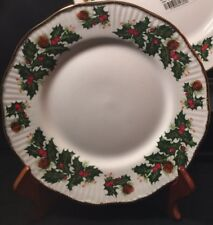 Rosina Queens YULETIDE (SCALLOPED)Cotswold Salad/Dessert Plate - Free Ship!