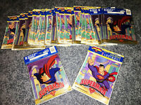 RARE! Superman: The Animated Series, 48 Loot Bags NEW & SEALED Oddball, VINTAGE!