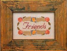 Twisted Threads FRIENDS Cross Stitch Chart/Leaflet ~ friendship/flowers