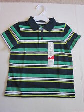 New $14.00 JUMPING BEANS Boys N/G Striped Cotton Shirt - Size  2T