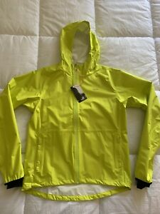New Rapha Commuter Jacket Medium Yellow NWT Waterproof Hi Vis Men's