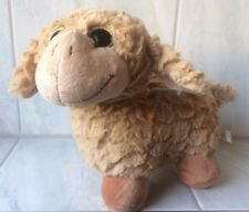 animaux en peluche brebis brun grand yeux brillants 22 cm Mouton Naissance