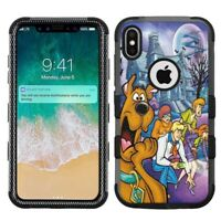 "iPhone XR (6.1"") Hard+Rubber Rugged Case Scooby Doo #H"