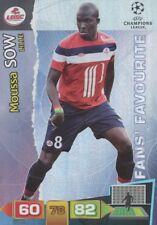 MOUSSA SOW FANS LOSC LILLE CARD ADRENALYN CHAMPIONS LEAGUE 2012 PANINI