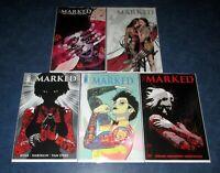 THE MARKED 1 2 3 4 5 1st print set iMAGE COMICS DAVID HINE Haberlin OPTIONED TV