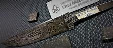 "Mosaïque damassé couteau lame ""Panther"" hunting knife blade Mosaic Damascus Lame"