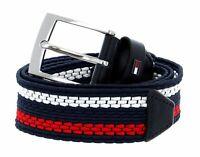 Tommy HILFIGER ORIGINALE Hilfiger Belt w95 Cintura Cintura in Pelle Nero Black Nuovo