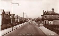 North Road Bellshill Nr Coatbridge Motherwell RP old pc late 1930's Valentines