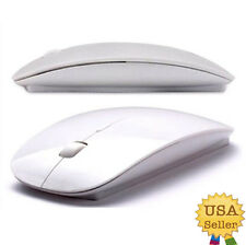 White USB Wireless Optical Mouse for Macbook PC All Laptop Desktop Computer