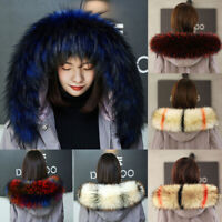 Winter Overcoat Collar Scarf Shawl Faux Fur Jacket Hood Coat Accessories Fashion