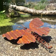 25cm Long Metal Handcrafted Butterfly Garden Pond Statue Ornament Sculpture