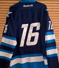 Slighty USED  #16 Adult Size 48 or 52 Winnipeg Jets Home Blue Jersey