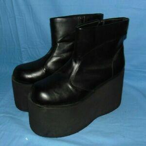 Fantasma Mens Platform Boots Shoes Costume Steam Punk Halloween Size 12/13