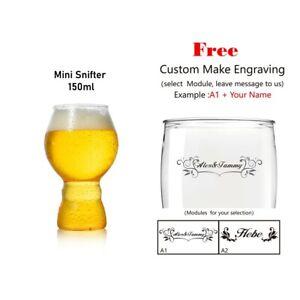 ToPanda Mini Snifter Craft Beer Glass (2 pcs) Cocktail Cup Plastic Mug Engraving