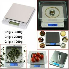 0.1G-3000G Digital Weighing Scales Pocket Grams Small Kitchen Gold Jewellery US