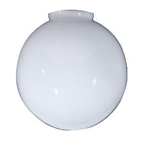 White Milk Glass Globe Ball Shade 3.25 Inch Fitter 6 Inch Diameter