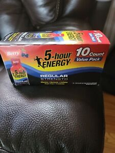 5 Hour Energy regular strength Berry flavor 10 count (Exp:09/22) - New
