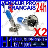 Kit DE 2 Ampoule Lampe Halogene Feu Phare XENON GAZ SUPER WHITE H1 100W 8500 12V