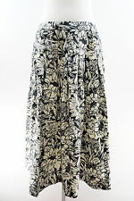 STYLE & CO. 100% Linen Floral Pleated Below Knee A-Line Skirt Size 6
