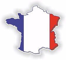 France Frankreich LandKarte Flagge Aufkleber Silhouette Motorrad Fahne Auto Helm