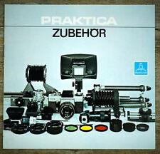 PENTACON Prospekt PRAKTICA ZUBEHÖR Broschüre Bildfeldlinsen Wechselsucher (X7092